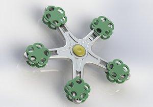 3D spinner fidget spin model