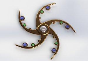 spinner fidget spin 3D