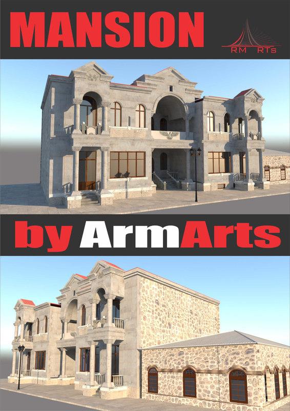 mansion stone armenian 3D model