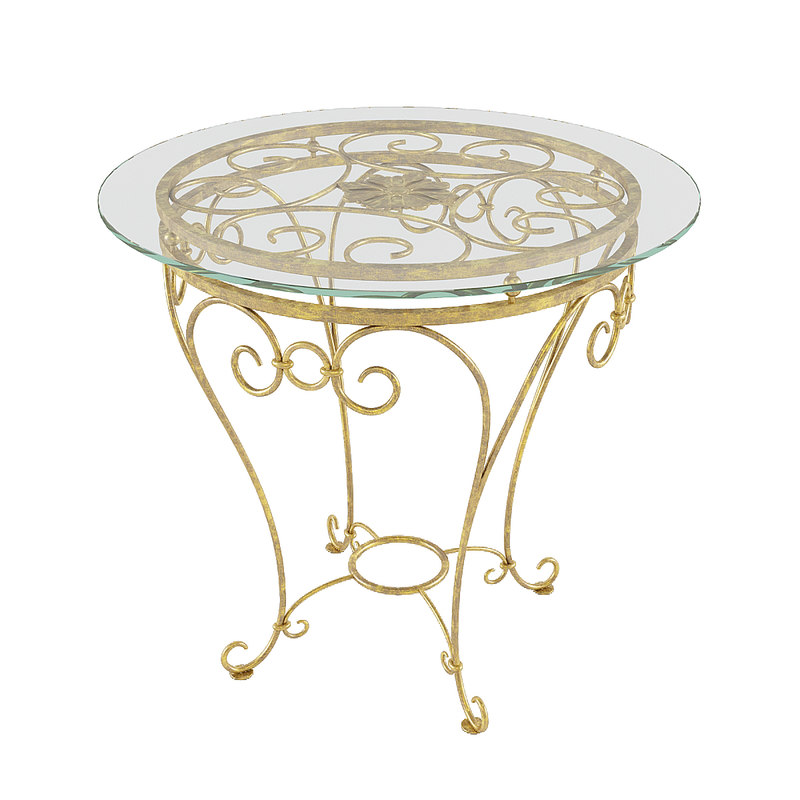 forged table 3D model