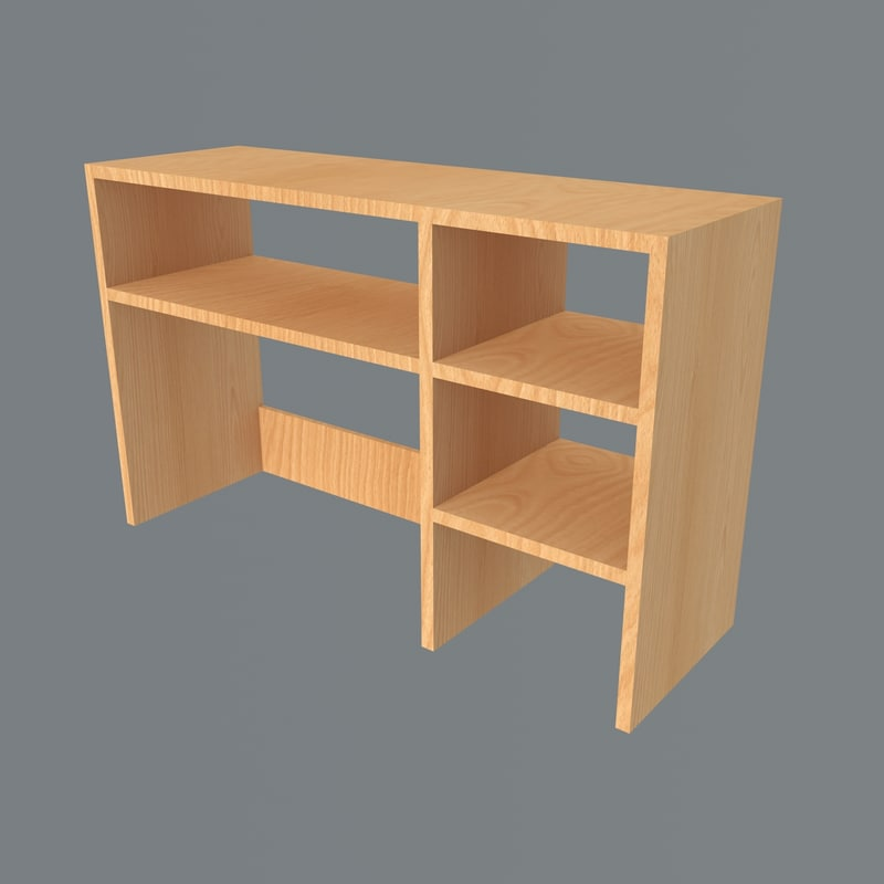 3D table shelf