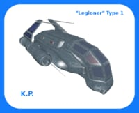 space ship legioner type 3D model