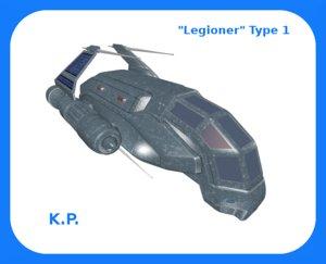 space ship legioner type 3D model