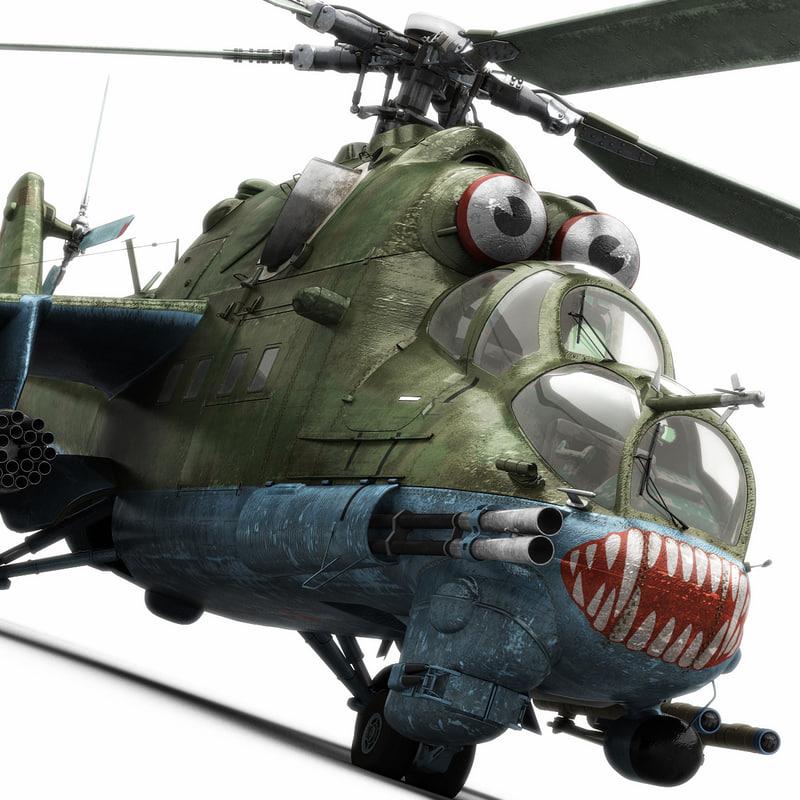 mil mi-24 hind helicopter model