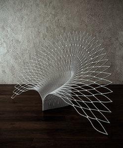 3D peacock chair model