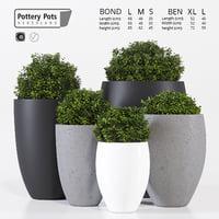 pottery pots 3D model
