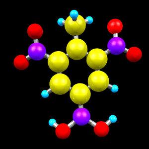 3D trinitrotoluene model
