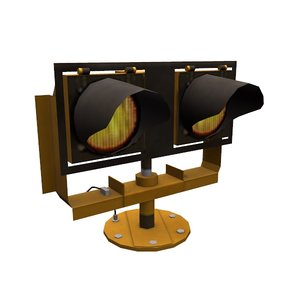 runway guard light 3D model