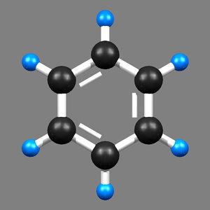 3D benzene molecule
