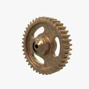 3D model gears machines shader