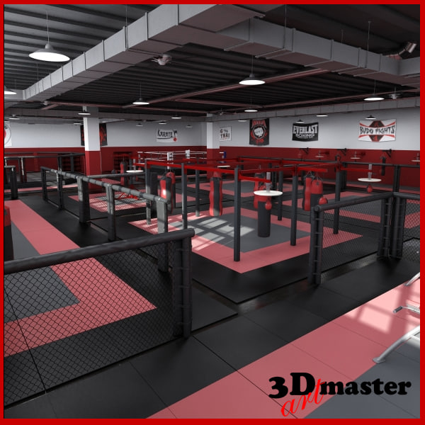 mma training centre 3D model