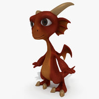 Cartoon Dragon Baby Red