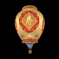 3D hot air balloon chinese