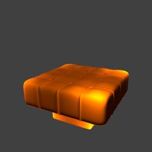 padded stool model