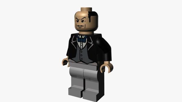 3D lego alfred pennyworth