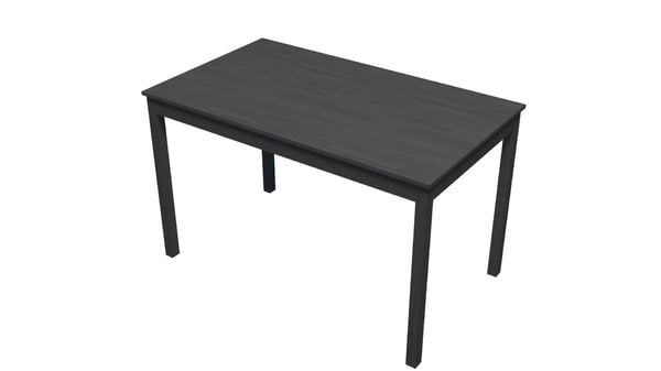 black wooden table 3D model