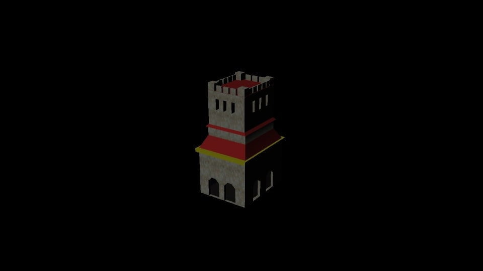 medieval towers level 1 3D model