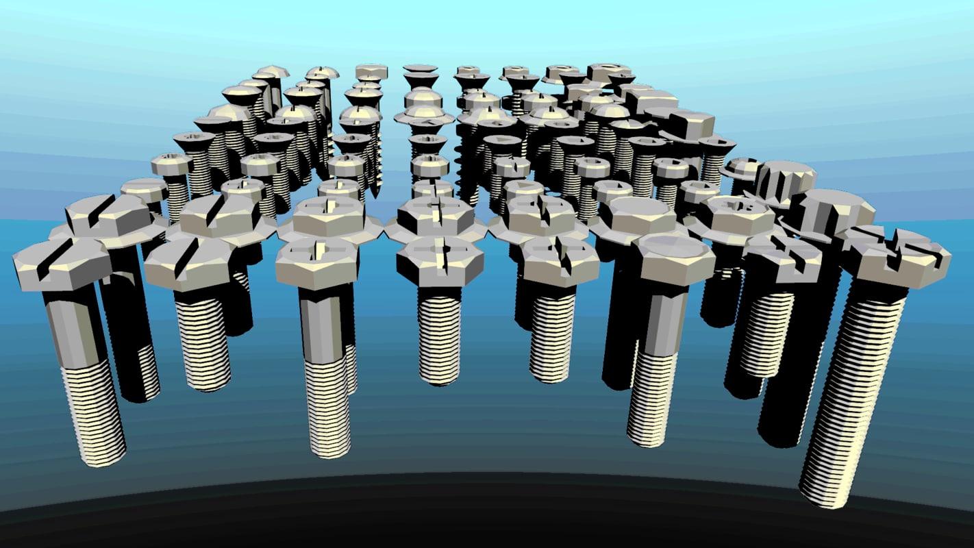 screws metal nail model