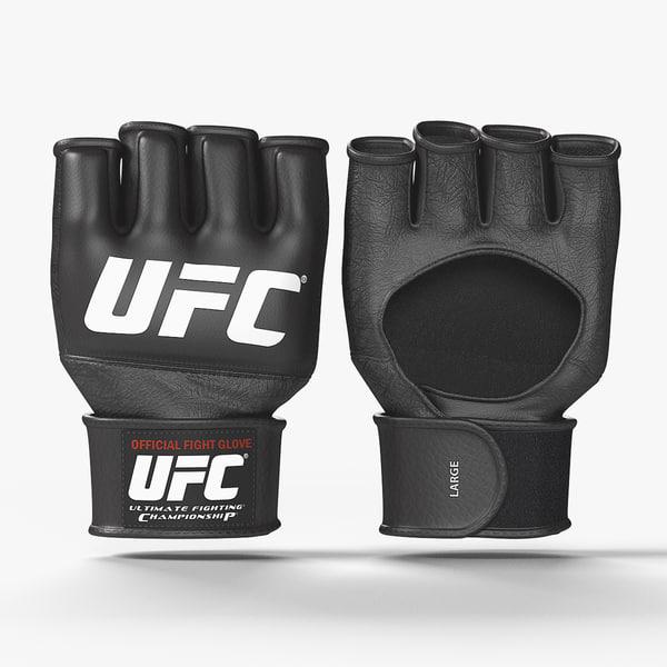 ufc official fight gloves 3D