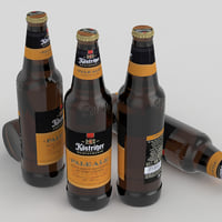 3D beer bottle ale