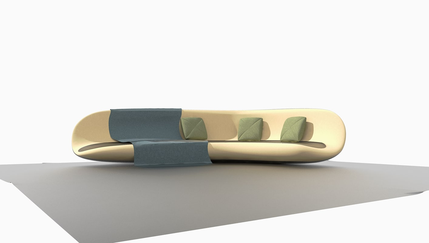 minimalistic modern couch 3D