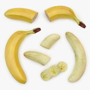 banana set 01 3D model