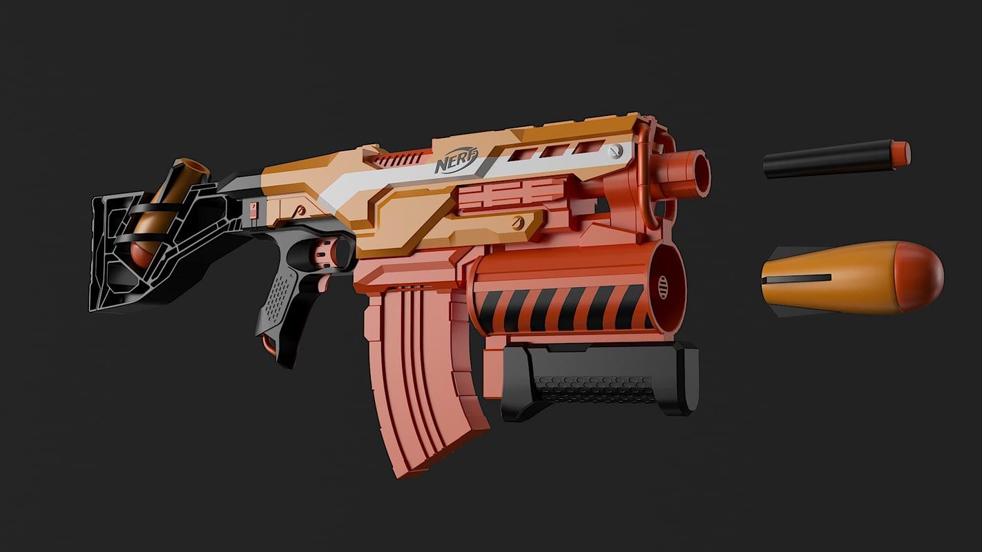 nerf blaster 3D model
