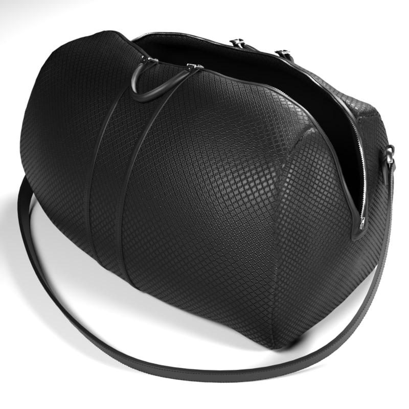 3D bag leather model