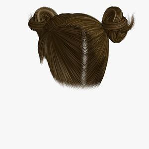 hairstyle 7 hair model