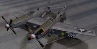 3D plane north american p-82