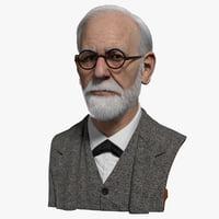 sigmund freud 3D model
