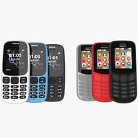3D nokia 105 130 colors model