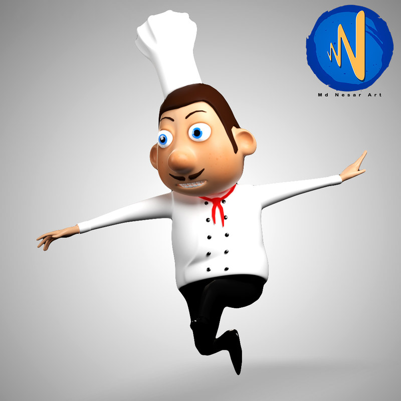 3D chef character model