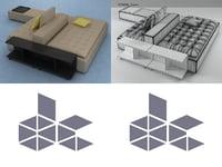 3D domino 5 model
