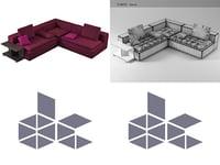 domino 4 3D model