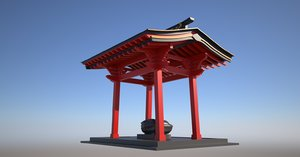 3D japanese temple model