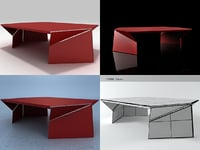 3D bent coffee table