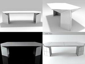 bent table 3D model