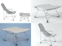 3D plein air armchair 271