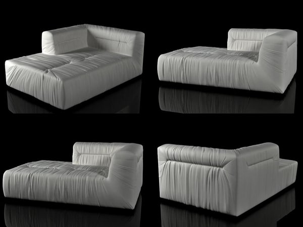 3D nuvola chaise longue model