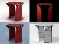 3D bent stool