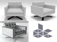 kennedee armchair 3D
