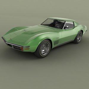 1970 chevrolet corvette c3 3D model