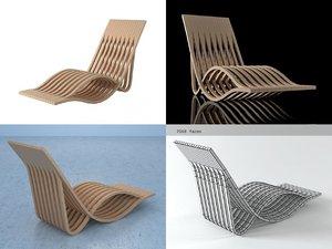 3D chaise longue n