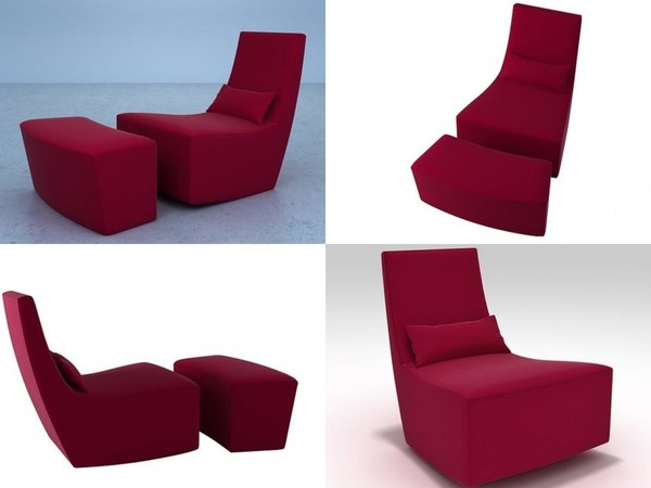 neo chair footstool 3D model