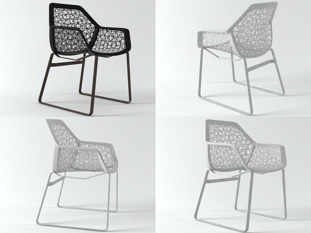 maia dining chair 3D