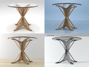 face café table 3D model