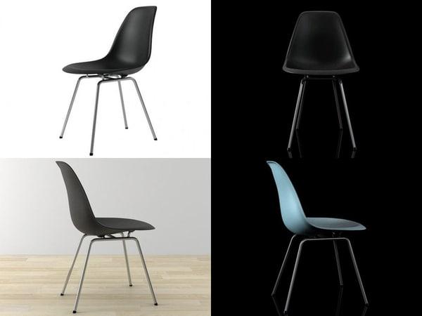 eames plastic chair dsx 3D model