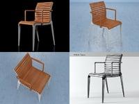 3D teak chair 476 model