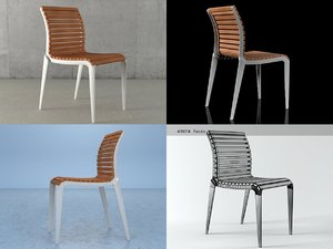 teak chair 475 3D model